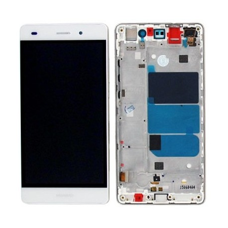 LCD Display Touch Screen + Frame per Huawei P8 Lite Bianco [ALE-L21]