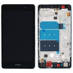 LCD Display Touch Screen con Frame per Huawei P8 Lite Nero [ALE-L21]