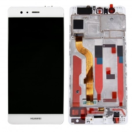 LCD Display Touch Screen con Frame per Huawei P9 Bianco [EVA-L09]