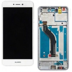 LCD Display Touch Screen con Frame per Huawei P8 LITE 2017 Bianco [PRA-LX1]