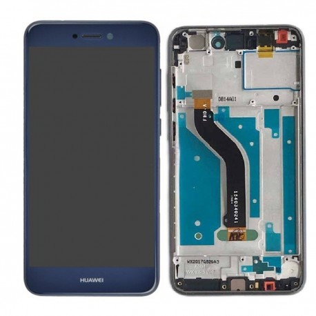 LCD Display Touch Screen con Frame per Huawei P8 LITE 2017 Blu [PRA-LX1]