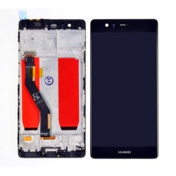 LCD Display Touch Screen con Frame per Huawei P9 Plus P9+ Nero [VIE-L09 VIE-L29]