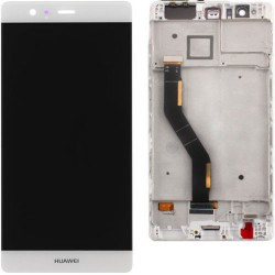 LCD Display Touch Screen con Frame per Huawei P9 Plus P9+ Bianco [VIE-L09 VIE-L29]