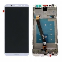 LCD Display Touch Screen + Frame per Huawei Mate 10 Lite Bianco [RNE-L21 RNE-L01]
